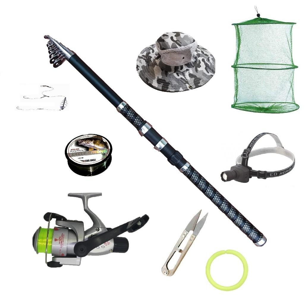 Set pescuit sportiv cu lanseta Ultra Carp 3,6m, mulineta Cobra, lanterna frontala led si accesorii imagine techstar.ro 2021