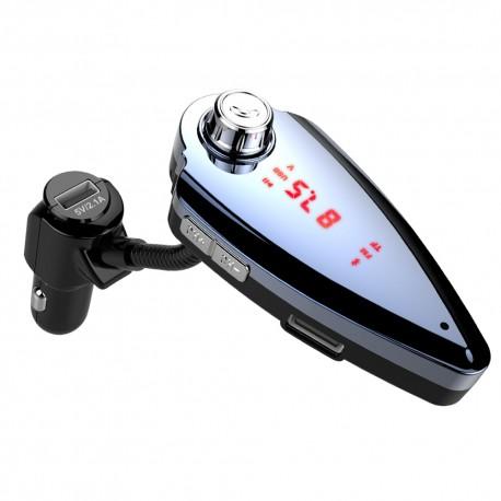 Modulator FM Techstar® T6S, Wireless, Bluetooth 4.2, Microfon Integrat, FM Transmitator, Voltaj Baterie, USB, Slot MicroSD