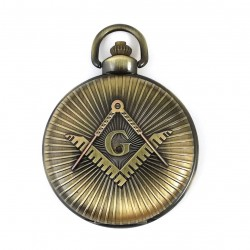 Ceas de buzunar masonic - Culoare Bronz - MM895