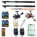 Set pescuit cu lansete Eastshark 3m, doua mulinete,guta, senzori si accesorii, cadou undita carbon 3,6m