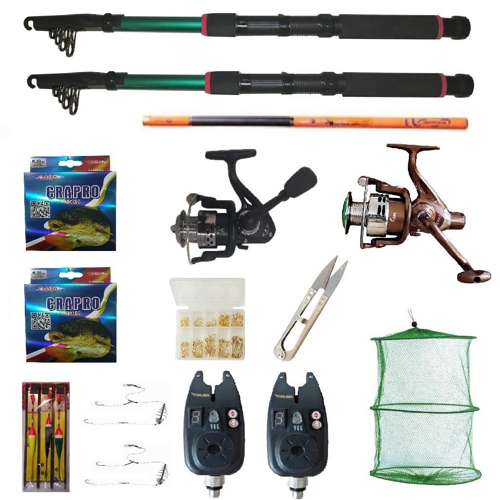 Set pescuit cu lansete Eastshark 3m, doua mulinete,guta, senzori si accesorii, cadou undita carbon 3,6m imagine techstar.ro 2021