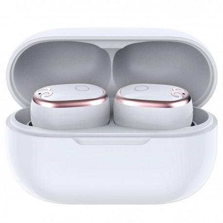 Casti Smart Techstar® TWS S17 mini, Wireless, Bluetooth V5.0, IPX5, HD Audio, Touch, iOS, Android, Type-C, Alb