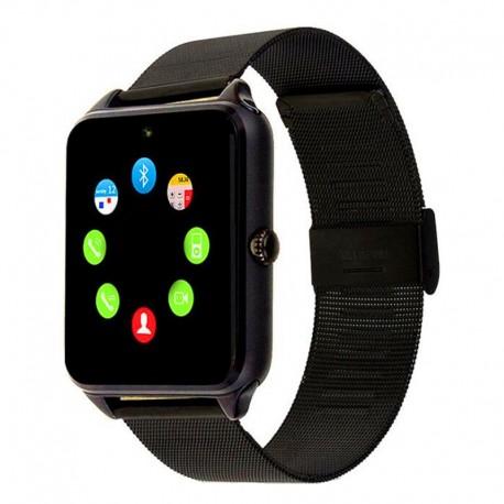 Ceas Smartwatch Techstar® Z60 Black, Cartela SIM, 1.54 inch, Apelare, Radio FM ,Alerte Sedentarism, Hidratare, Bluetooth 4.0