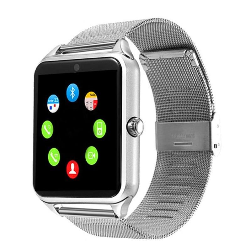 Ceas Smartwatch Techstar® Z60 Silver, Cartela SIM, 1.54 inch, Apelare, Radio FM ,Alerte Sedentarism, Hidratare, Bluetooth 4.0 poza 2021