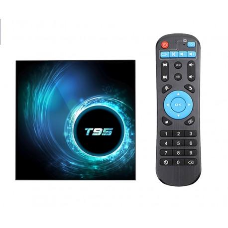 Smart TV Box Mini PC Techstar® T95, Android 10, 4GB + 32GB ROM, 6K ,WiFi 2.4GHz, RJ45