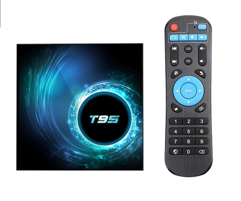 Smart TV Box Mini PC Techstar® T95, Android 10, 4GB + 64GB ROM, 6K ,WiFi 2.4GHz, RJ45
