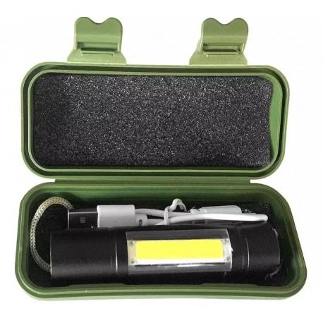 Lanterna tactic cu cablu incarcare +CADOU