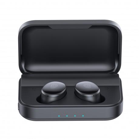 Casti Smart Techstar® TWS S16, Wireless, Bluetooth V5.0, IPX4, HD Audio, Touch, iOS, Android, Type-C, 1500mAh, Negru