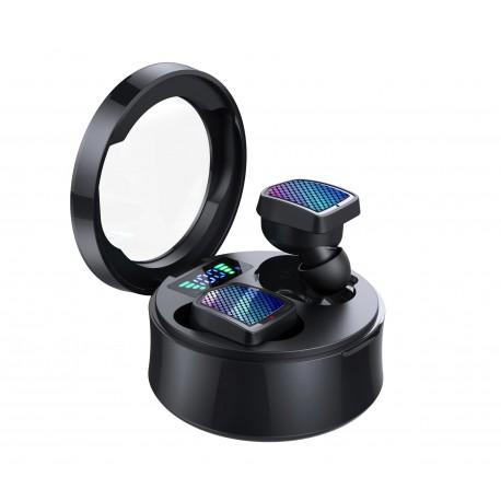Casti Smart Techstar® TWS S30, Wireless, Bluetooth V5.0, IPX7, HD Audio, Touch, iOS, Android, Type-C, Negru