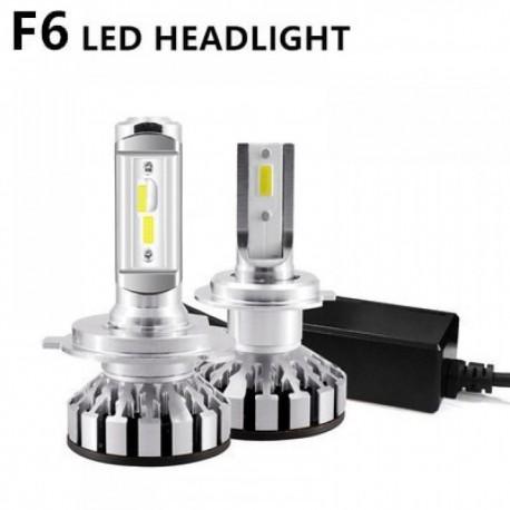 Set 2 becuri LED auto F6, 50W, 4000Lm, 6500k - H1, cu anulatori de eroare