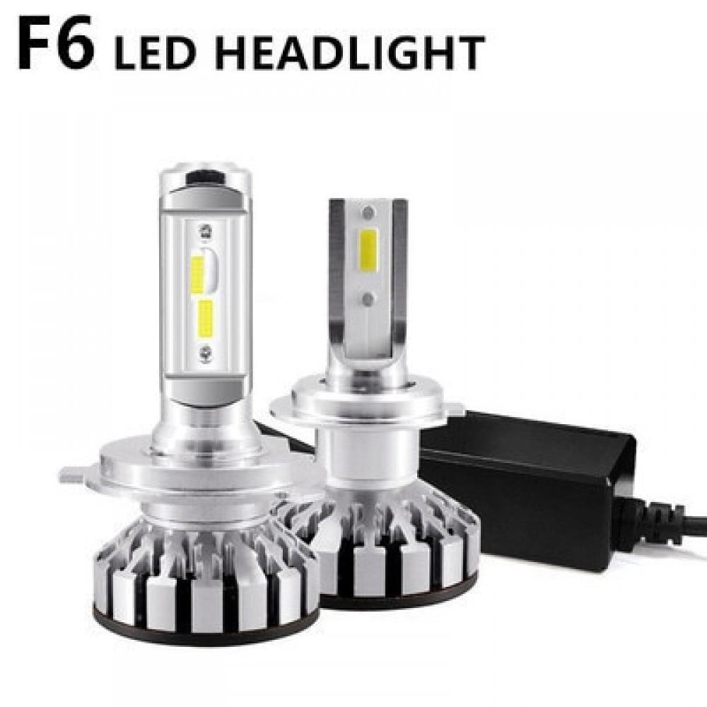 Set 2 becuri LED auto F6, 50W, 4000Lm, 6500k - H1, cu anulatori de eroare imagine techstar.ro 2021