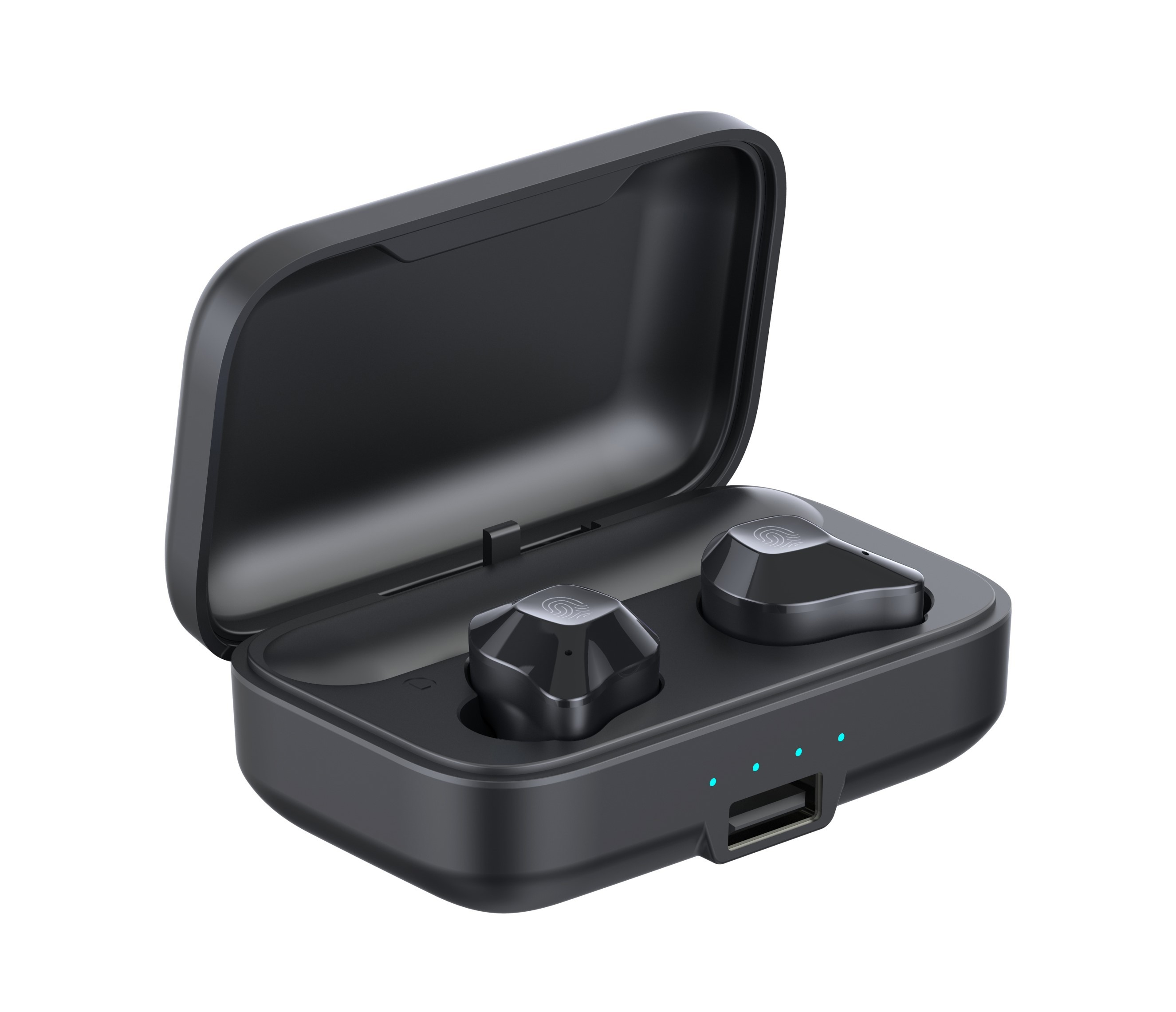 Casti Smart Techstar® TWS S15 , Wireless, Bluetooth V5.0, HD Audio, Touch, IPX6, iOS, Android, 1500mAh, Negru