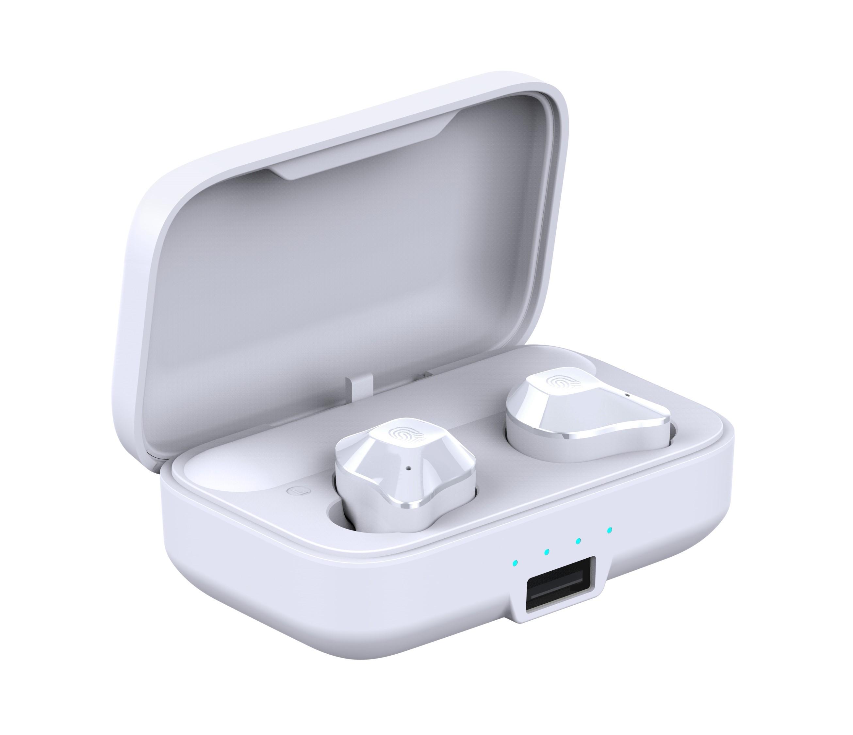 Casti Smart Techstar® TWS S15 , Wireless, Bluetooth V5.0, HD Audio, Touch, IPX6, iOS, Android, 1500mAh, Alb imagine techstar.ro 2021