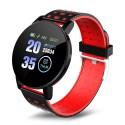 Resigilat Ceas Smartwatch Techstar® 119 Rosu, 1.3 inch IPS, Monitorizare Cardiaca, Tensiune. Bluetooth, IP65