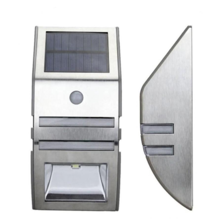 Lampa metalica solara cu senzor 1xLED IP44 imagine techstar.ro 2021