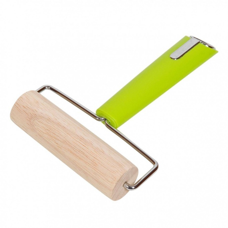 Facalet de lemn cu maner verde – 13×18 cm poza 2021