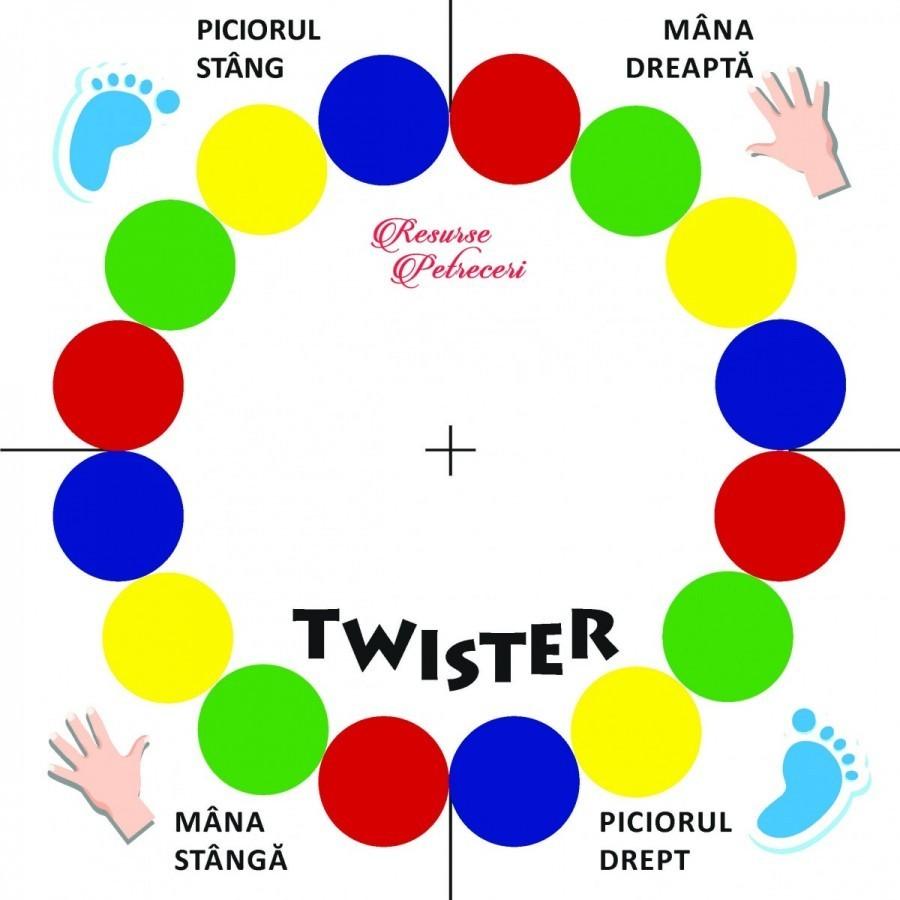 Joc Twister - Joc de societate pentru copii si adulti imagine techstar.ro 2021