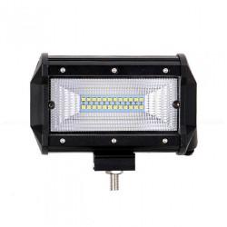Proiector Auto,, LED Bar, Off Road, patrat, 72W, 13cm
