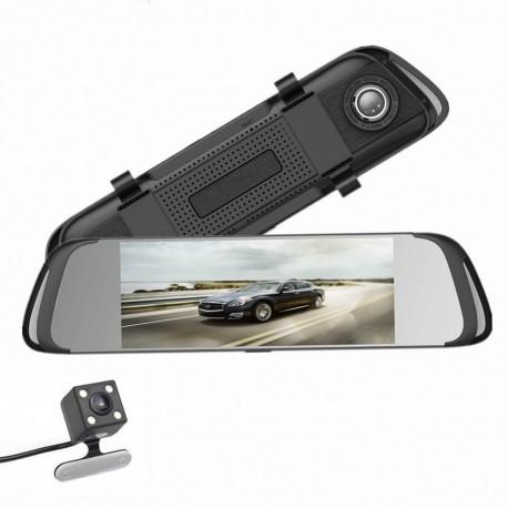 """Camera auto, martor trafic, in oglinda retrovizoare fata si camera marsarier, 7"""" - Ai Car Fun"""