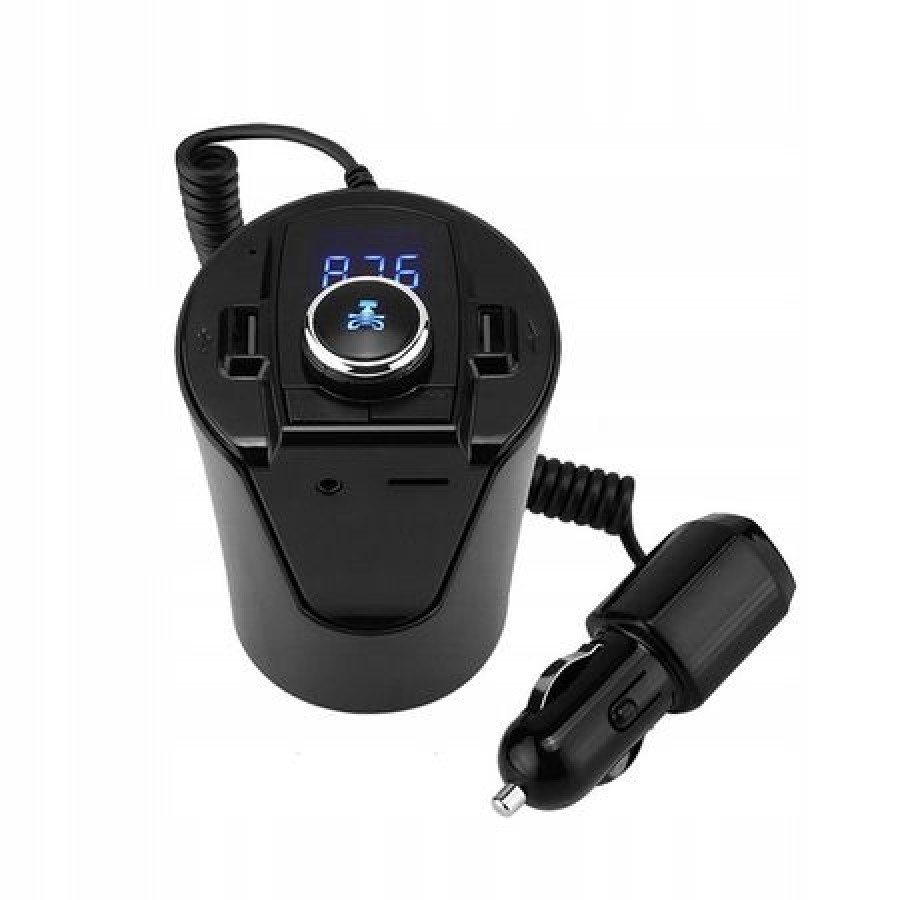 Modulator auto BX6, Bluetooth, FM, 2 x USB, Negru imagine techstar.ro 2021