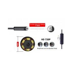 Camera Endoscop Wireless cablu de 3m, compatibila cu WI-fi, Usb, MicroUsb