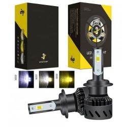 Set becuri LED auto K9, 40W, 12000Lm, schimbare culoare 3000k, 4300k si 8000k - H7