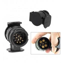 Adaptor Priza Pentru Remorca 13-7 pini, 12V Remorca,Caravana,Remorci