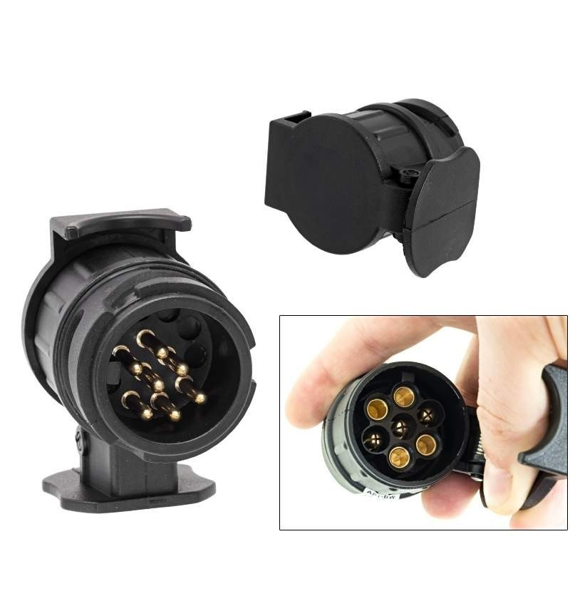Adaptor Priza pentru Remorca 13-7 pini, 12V remorca,caravana ,+ cadou imagine techstar.ro 2021