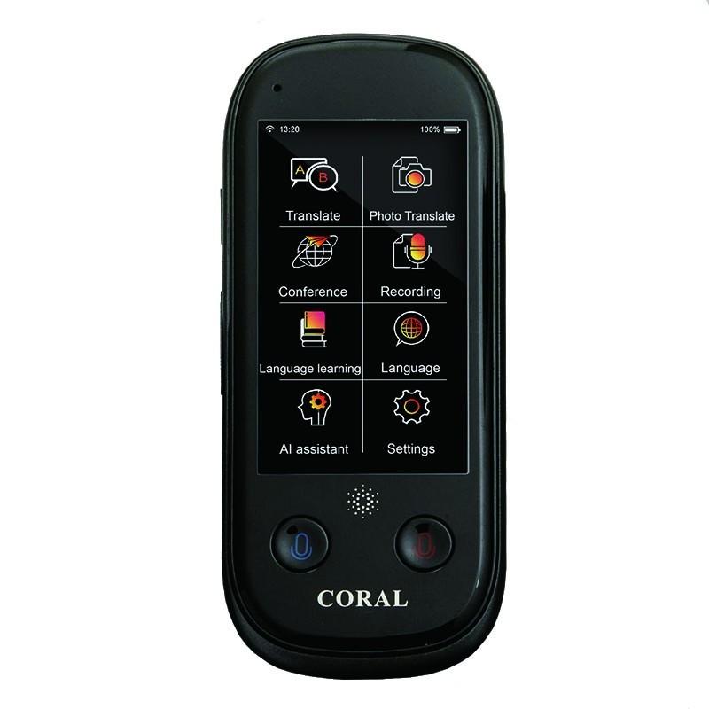 Translator inteligent instant, 109 limbi, WIFI, 12 limbi Offline, 3inch touch screen, speaker imagine techstar.ro 2021