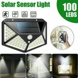Lampa solara 100 LED-uri cu senzor de miscare