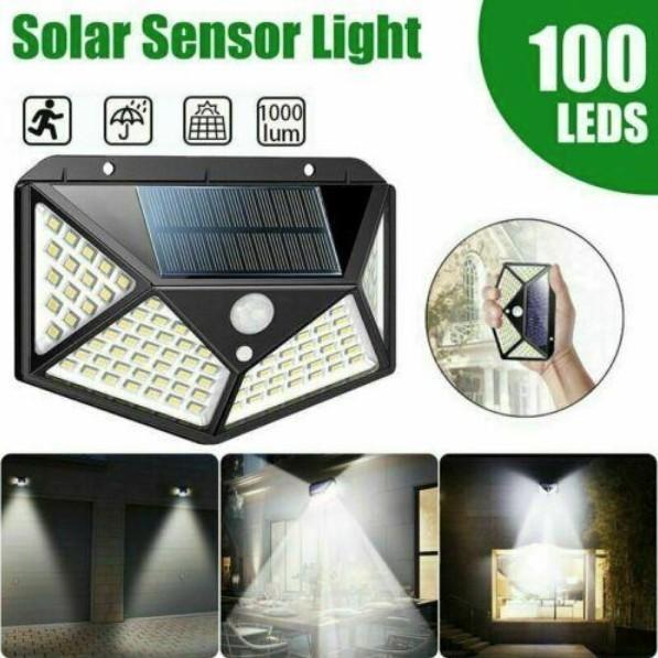Lampa solara 100 LED-uri cu senzor de miscare imagine techstar.ro 2021