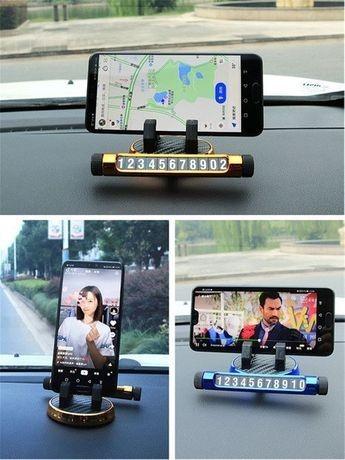 Suportul de afisare numar cu stand telefon pentru bordul auto+cadou imagine techstar.ro 2021
