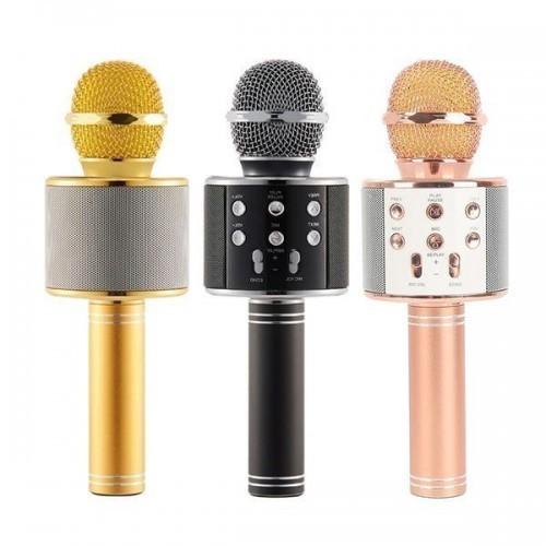 Microfon Karaoke Wireless Bluetooth WS-858 imagine techstar.ro 2021