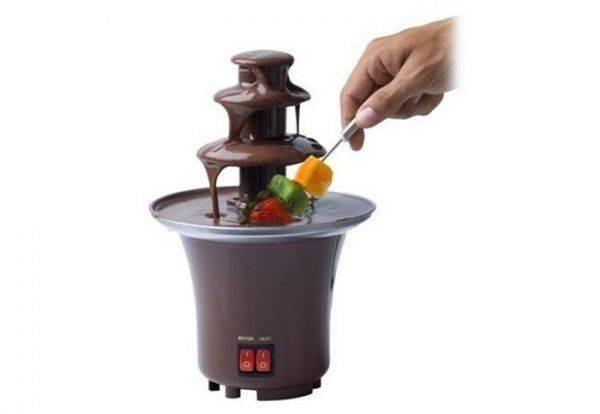 Mini Fantana pentru Ciocolata Fondue, 2 Butoane, Otel Inoxidabil imagine techstar.ro 2021