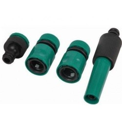 Set Conectori pentru furtun, 4 Piese, Verde