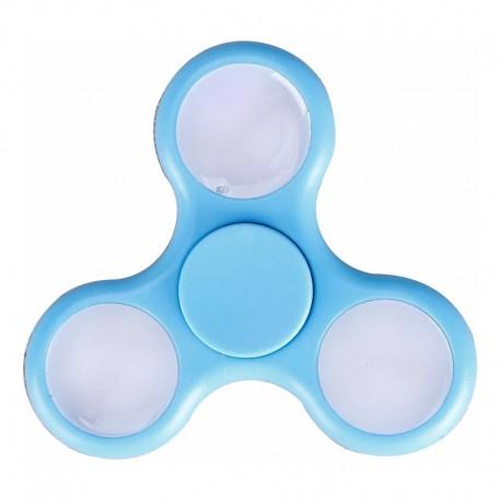 Fidget Spinner Albastru Deschis cu LED-uri Multicolore