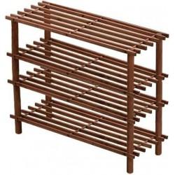 Suport incaltaminte din lemn cu 4 etajere