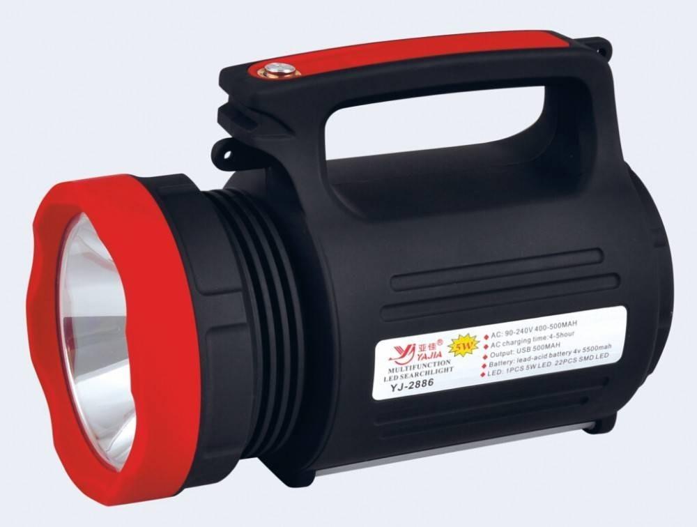 Lanterna LED 5W cu Acumulator, USB si Panou 22 LED-uri imagine techstar.ro 2021