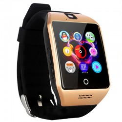 "Smartwatch Vogue Q18 Curved cu Camera si Telefon 3G Display 1.54"" Bluetooth Auriu"