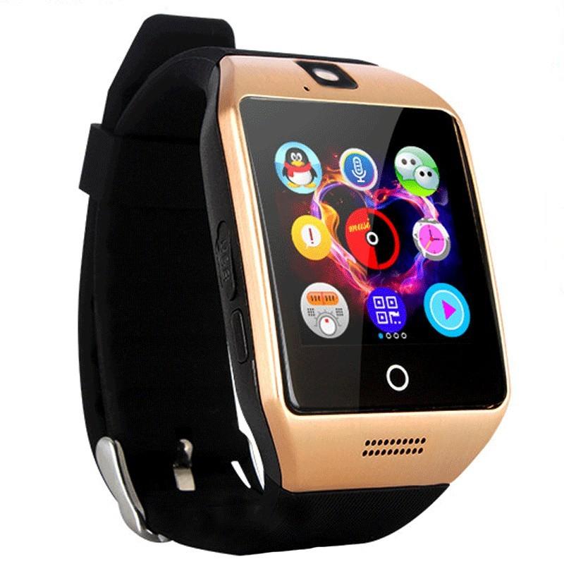 "Smartwatch Vogue Q18 Curved cu Camera si Telefon 3G Display 1.54"""" Bluetooth Auriu imagine techstar.ro 2021"
