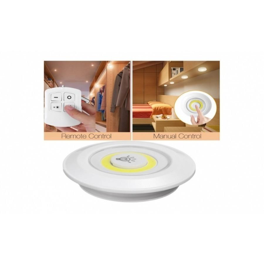 Set 3 lampi LED wireless - cu telecomanda imagine techstar.ro 2021