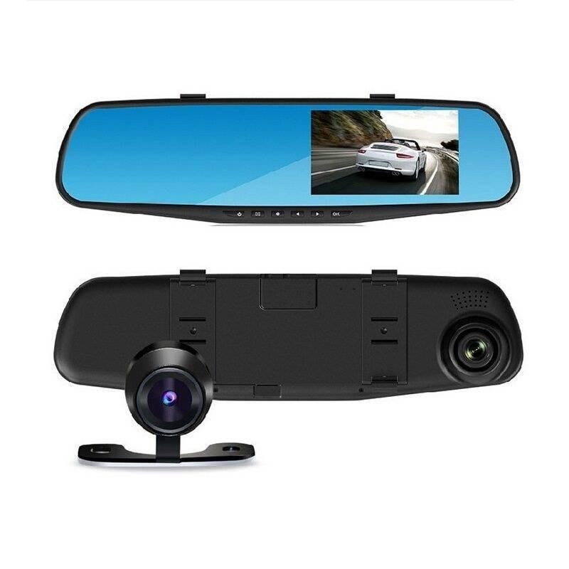 Oglinda auto cu camera fata/spate, Full HD, G Sensor imagine techstar.ro 2021