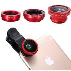 Obiectiv-Lentila universala pentru telefon Clip Lens 3 in 1