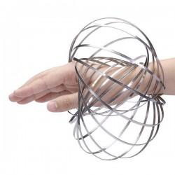 Jucarie Kinetica Flow Ring, inel metalic