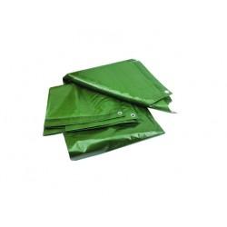 Prelata cu Inele Latime 5m, Lungime 8m, Greutate 120g/mp, Culoare Verde