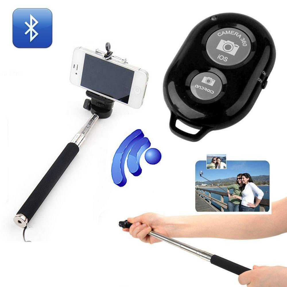 Selfie Stick cu Telecomanda Bluetooth imagine techstar.ro 2021