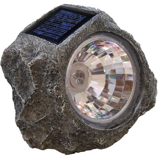 Lampa solara care imita piatra imagine