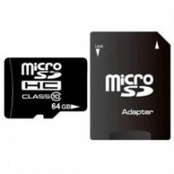 Card Micro SD 64 GB plus adaptor