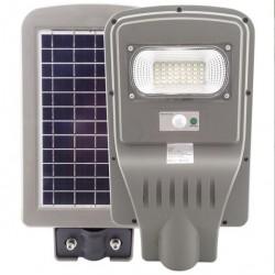 Lampa stradala 30W cu panou solar, acumulator, senzor de miscare