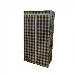 Dulap textil portabil pentru depozitare, cu cadru metalic